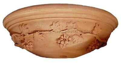 Tasca uva - Terracotta-Wandschale mit Traube