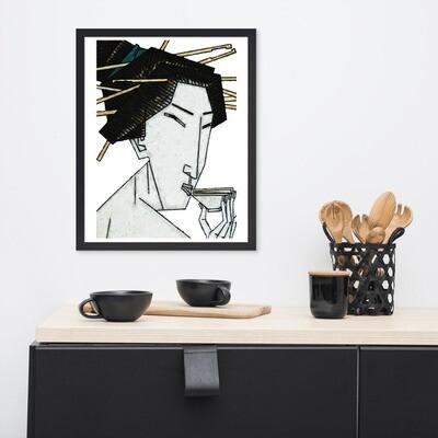 Geisha Framed Poster