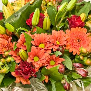 Florists Choice Handtied Aqua Bouquet.