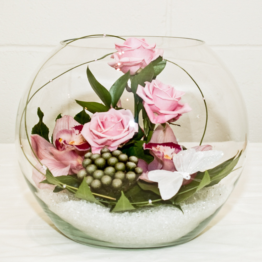 Rose and Orchid Globe