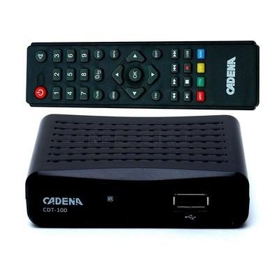 Приемник цифровой эфирный CADENA CDT-100 для 20 бесплатных каналов с новостями Сочи