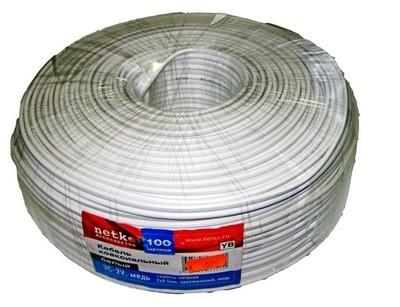 1005 Кабель для в/набл. бел. NETKO 3C-2V + 2*0.5, 100 м