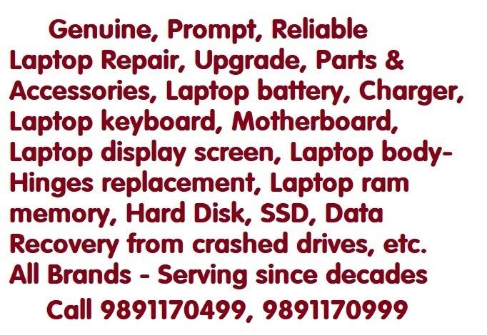 laptop repair Nehru Place, Best laptop repair shop, laptop accessories, laptop battery, laptop charger
