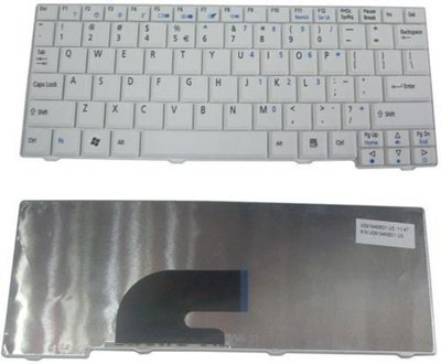 Acer Aspire One D150 ZG8 ZG5 531H A110 Series White laptop keyboard