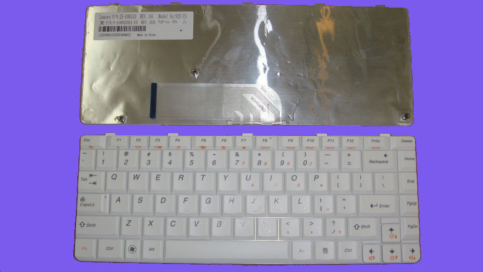 Lenovo IdeaPad U350 Y650 Y650A Series White Laptop Keyboard