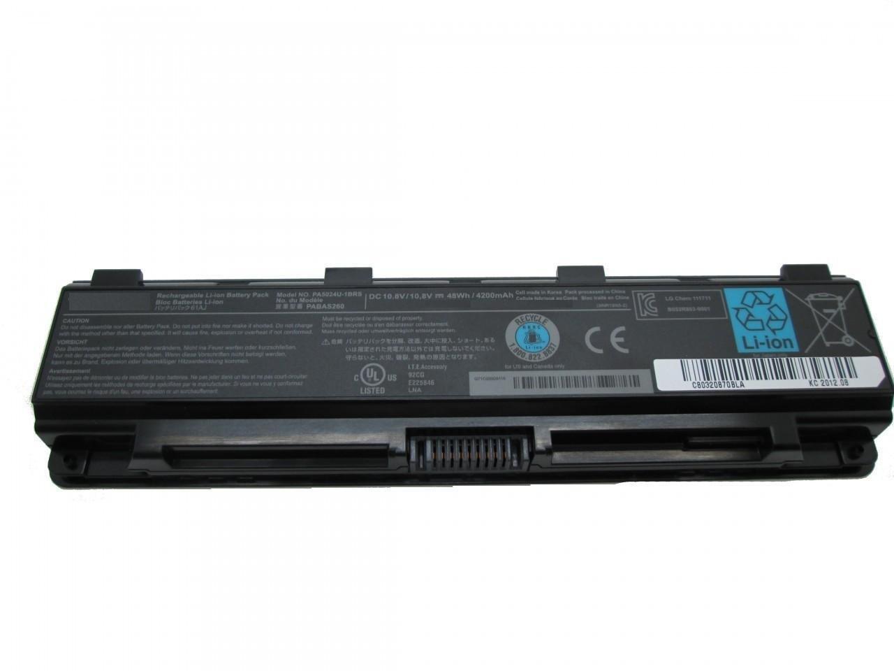 Toshiba satellite C875 C875D L70 L70D L75 L75D L840 compatible laptop battery