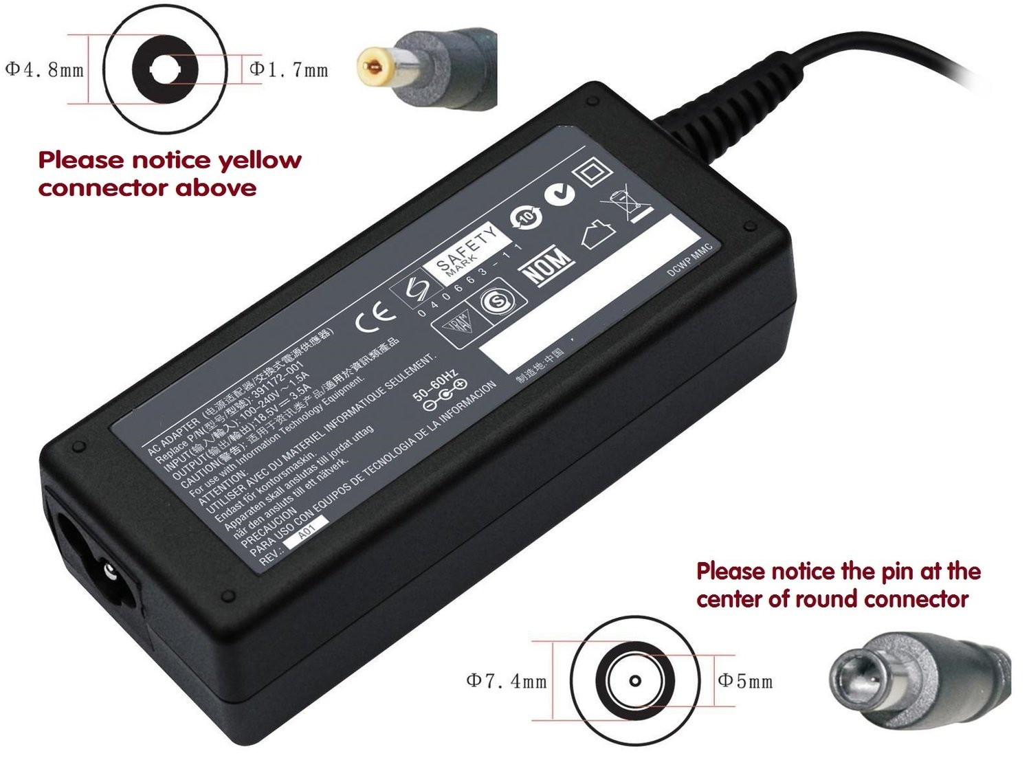 Hp Compaq 6400 8220 8230 8430 Compatible laptop charger / ac power adaptor