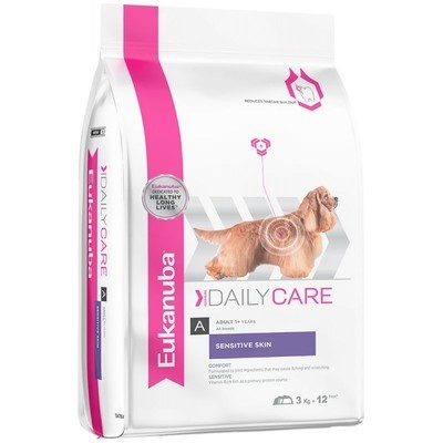 Eukanuba Sensitive Skin Daily Care Adult Dog Food 12 KG