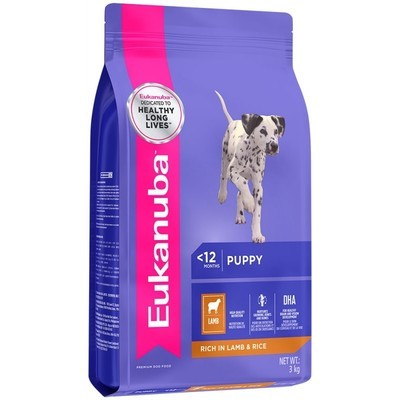 Eukanuba Small And Medium Breed Puppy Dog Food - Lamb and Rice 3 KG