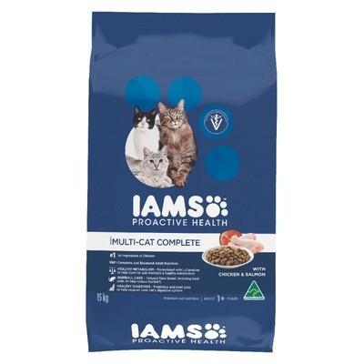 Iams Multicat Chicken and Salmon Cat Food 3 KG