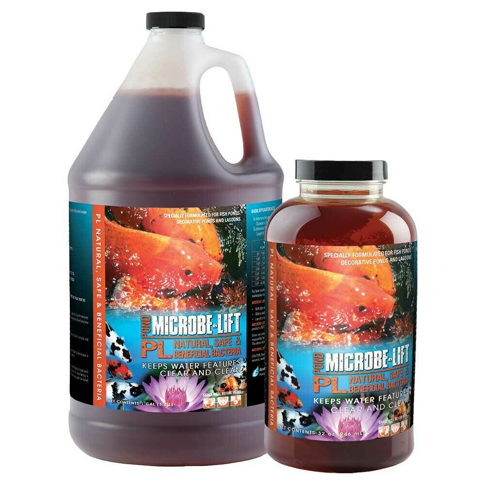 MicrobeLift PL Ponds Lagoons and Aquaponics Crystal Clear Water Maintenance Bacteria