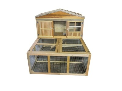 Rabbit / Guinea Pig Hutch Penthouse Outdoor Cage