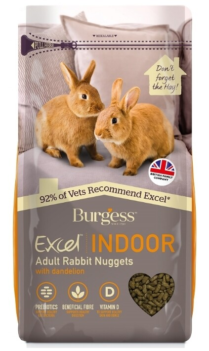 Burgess Excel Indoor Rabbit Nuggets with Dandelion 1.5kg