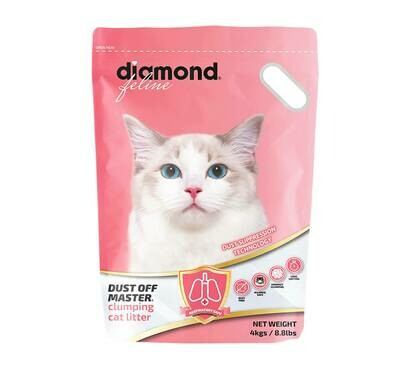 Diamond Feline Dust Off Master Clumping Cat Litter 4kg