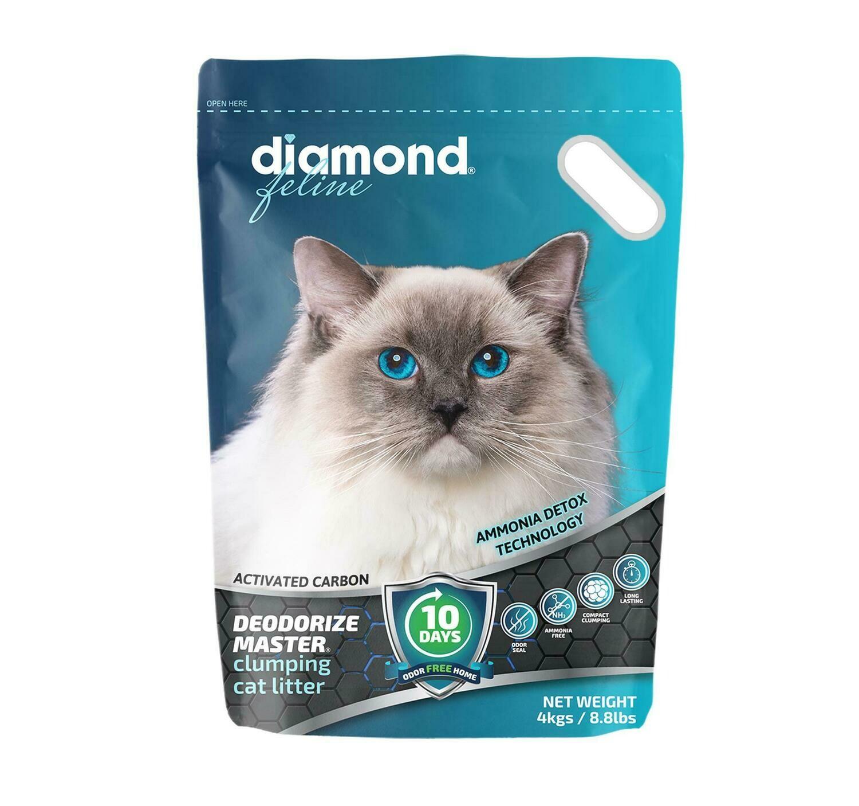 Diamond Feline Deodorize Master Clumping Cat Litter 4kg