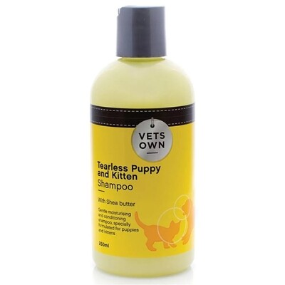 Vets Own Tearless Puppy and Kitten Shampoo 250ml