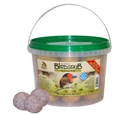 Elaine's Birding Mini Suet Ball Bucket 30 Balls
