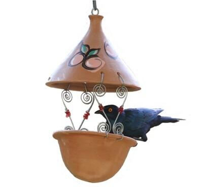 Elaine's Birding Terracotta Suet Feeder