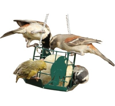 Elaine's Birding Metal Suet Ball Feeder