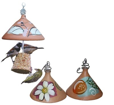 Elaine's Birding Terracotta Seed Bell Holder with a Small Seed Bell
