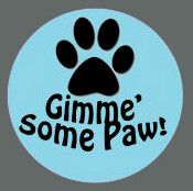 Pet ID Tag - Gimme Some Paw!