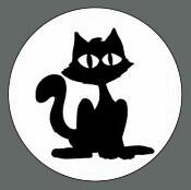 Pet ID Tag - Black Cat