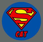 Pet ID Tag - Super Cat