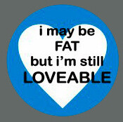 Pet ID Tag - I May Be Fat But I'm Still Loveable (Blue)