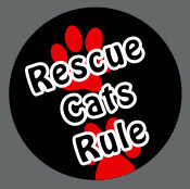 Pet ID Tag - Rescue Cats Rule