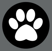 Pet ID Tag - Black and White Paw