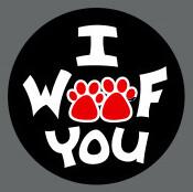 Pet ID Tag - I Woof You