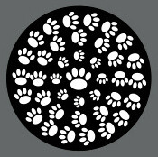Pet ID Tag - Black and White Paw Circles
