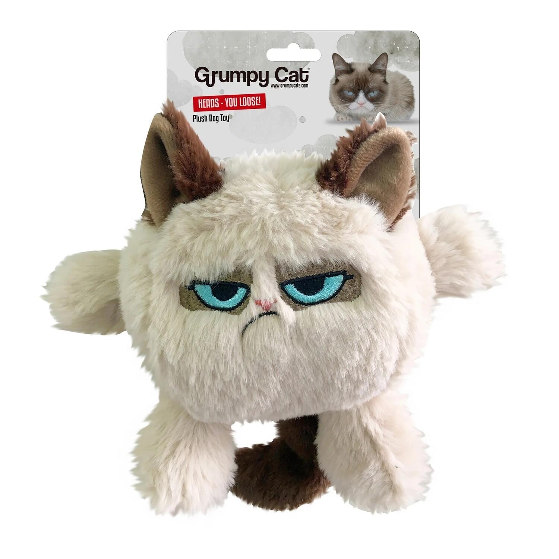 Grumpy Cat Head Dog Toy