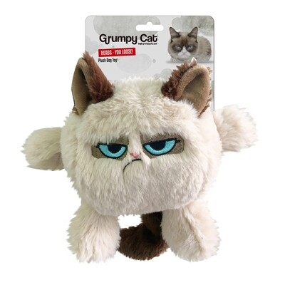 Grumpy Cat Head Dog Toy