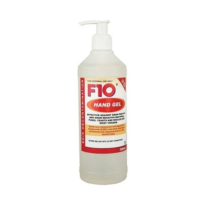 F10 Hand Gel with 1ml pump 500ml