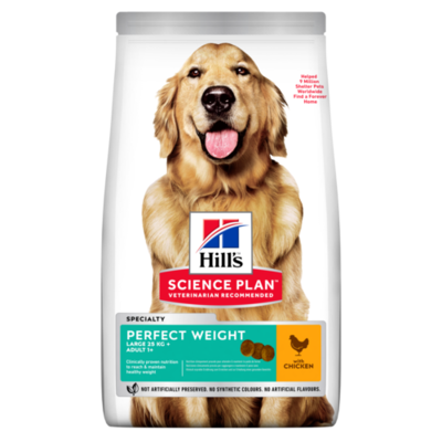 Hill's Science Plan Adult Perfect Weight Large Breed Dry Dog Food Chicken Flavour 12kg