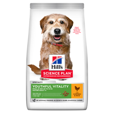 Hill's Science Plan Adult 7+ Youthful Vitality Small & Mini Dry Dog Food Chicken Flavour
