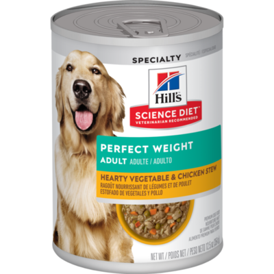 Hill's Science Plan Perfect Weight Wet Dog Food Vegetable and Chicken Flavour 354g