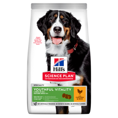 Hill's Science Plan Adult 5+ Youthful Vitality Large Breed Dry Dog Food Chicken Flavour 12kg