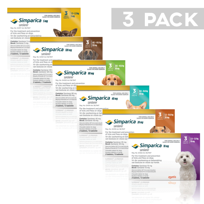 Simparica Chewable Tick & Flea Tablets for Dogs