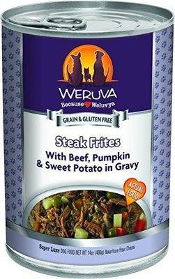 WERUVA Steak Frites  – With Beef, Pumpkin and Sweet Potatoes in Gravy Wet Dog Food