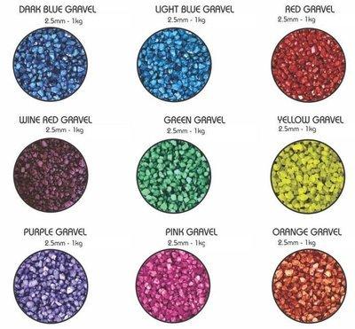 Aquarium Colored Gravel Variety 1KG