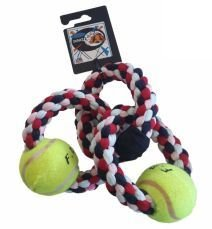 Cotton 3 Chain 2 Tennis Balls Rope Toy
