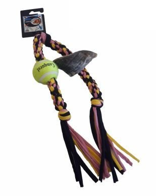 Cotton Hoof and Tennis Ball Rope Toy