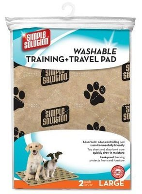 Simple Solution Washable Training and Travel Pad - 2 Pack