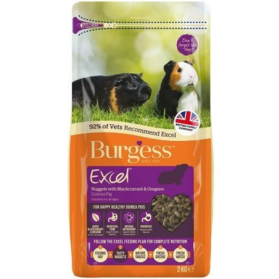 Burgess Excel Guinea Pig Nuggets with Blackcurrant and Oregano 2KG