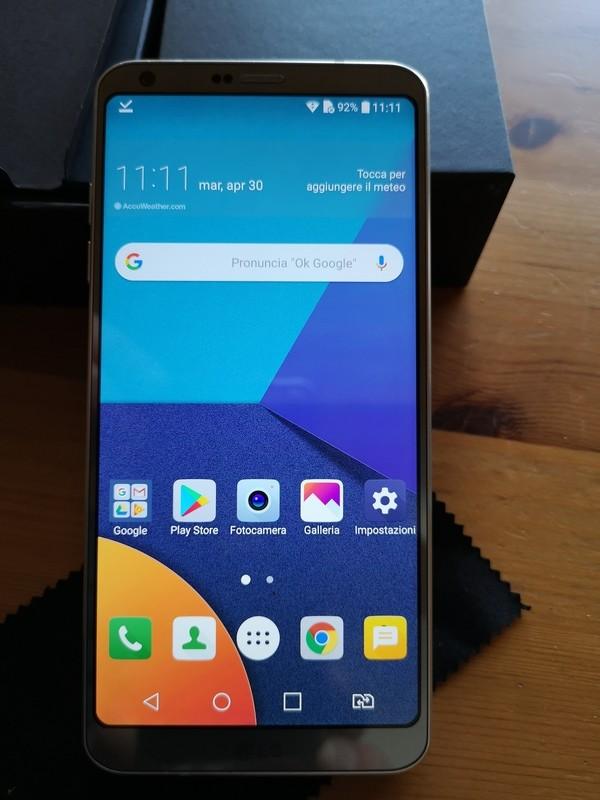 LG G6 dual sim H870DS platinum (Usato) pari al nuovo