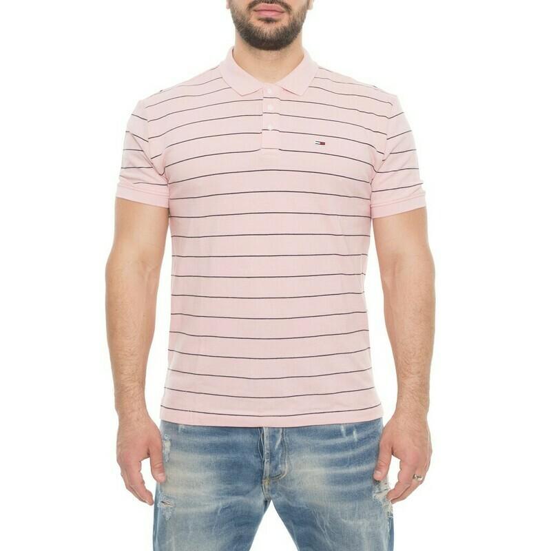 Tommy Jeans csíkos, férfi, galléros póló
