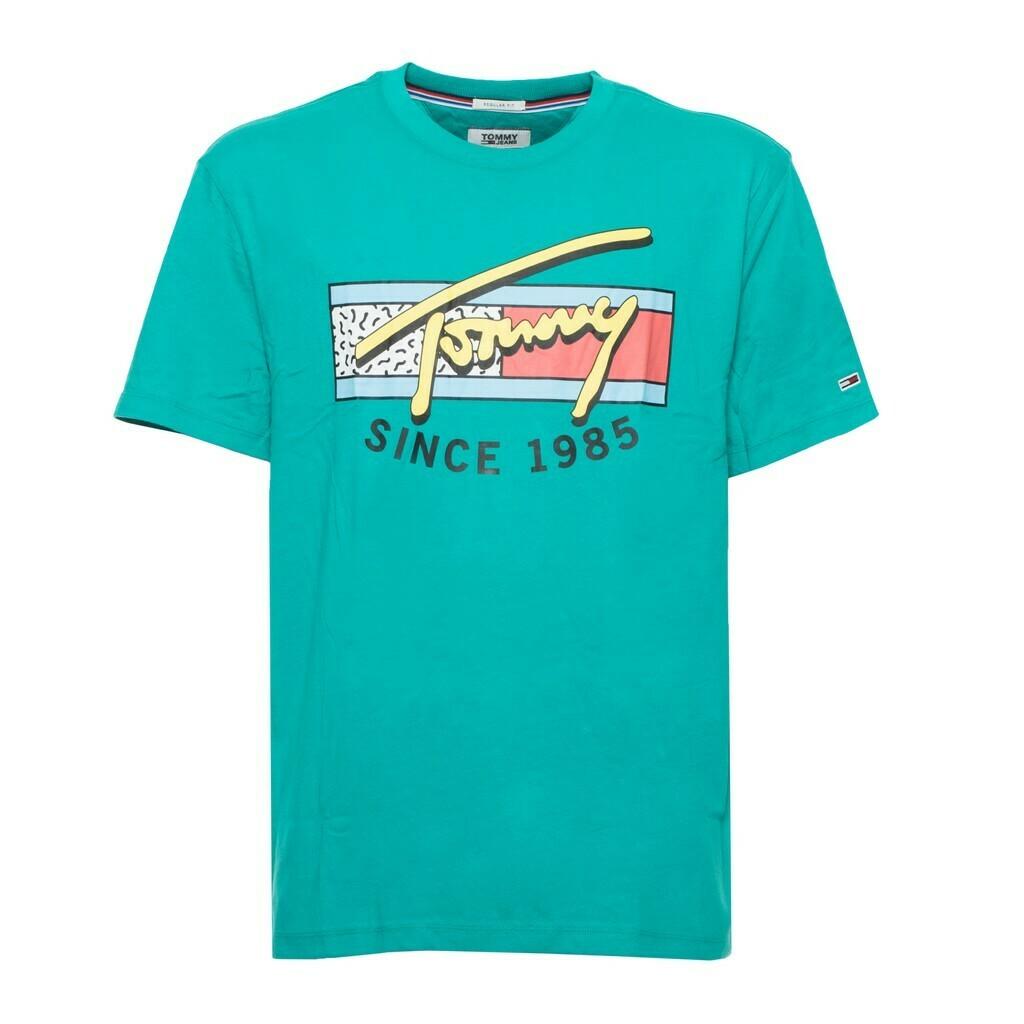 Tommy Jeans férfi póló zöld