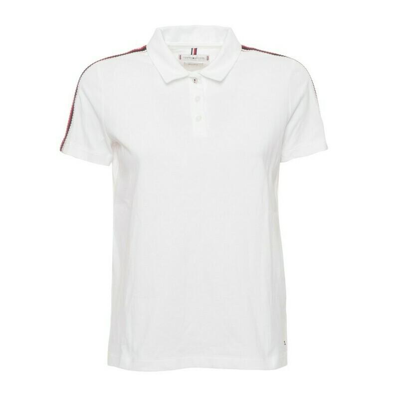 Tommy Hilfiger fehér, galléros, női póló